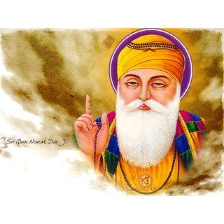 MYIMAGE Lord Shree Gurunanak Dev Beautiful Canvas Cloth Poster (Canvas Cloth Print, 12x18 inch)