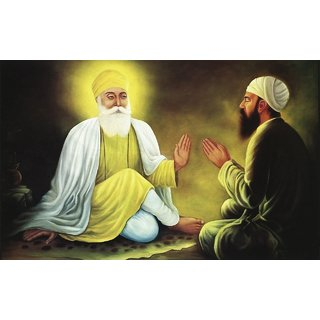 MYIMAGE Lord Shree Gurunanak Dev Beautiful Canvas Cloth Poster (Canvas Cloth Print, 12x18 inch)