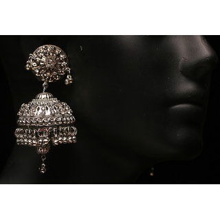 Antique Silver Plated Fashion Zumki Earring (AJER-SJ-107)
