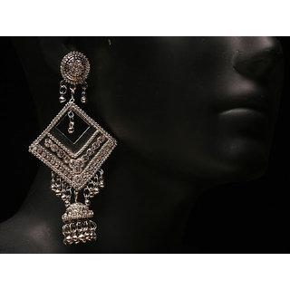 Antique Silver Plated Fashion Zumki Earring (AJER-SJ-147)