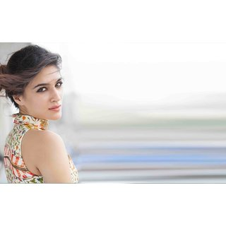 MYIMAGE Beautiful Kriti Sanon Digital Printing Canvas Cloth Poster (Canvas Cloth Print, 12x18 inch)