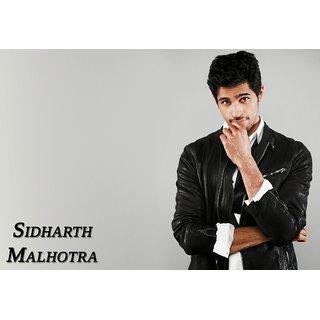MYIMAGE Sidharth Malhotra Digital Printing Canvas Cloth Poster (Canvas Cloth Print, 12x18 inch)