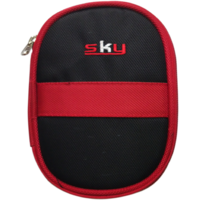 Leaf  Hard Disk Pouch Red