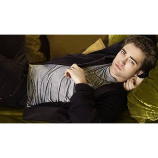 MYIMAGE Hollywood Star Robert Pattinson Digital Printing Canvas Cloth Poster (Canvas Cloth Print, 12x18 inch)
