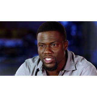 MYIMAGE Hollywood Star Kevin Hart Digital Printing Canvas Cloth Poster (Canvas Cloth Print, 12x18 inch)