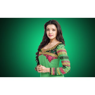 MYIMAGE South Actress Kajal Aggarwal Digital Printing Canvas Cloth Poster (Canvas Cloth Print, 12x18 inch)