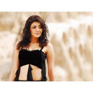 MYIMAGE South Actress Kajal Aggarwal Digital Printing Canvas Cloth Poster (Canvas Cloth Print, 12x18 inch)