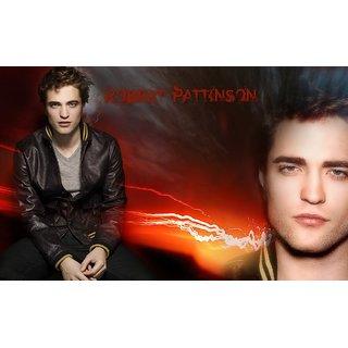 MYIMAGE Hollywood Star Robert Pattinson Digital Printing Canvas Cloth Poster (Canvas Cloth Print, 12x18 inch)