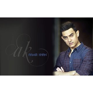 MYIMAGE Handsome Amir Khan Digital Printing Canvas Cloth Poster (Canvas Cloth Print, 12x18 inch)