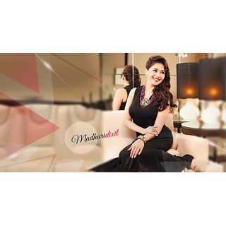 MYIMAGE Madhuri Dixit Digital Printing Canvas Cloth Poster (Canvas Cloth Print, 12x18 inch)