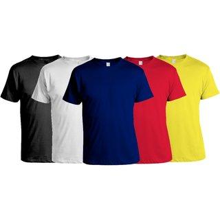 Combo of 5 Stylish Round Neck T-shirts (03)