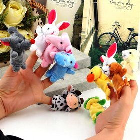 Velvet Finger Puppet Animal Baby Education Play Toy Hand Puppets 10 pcs