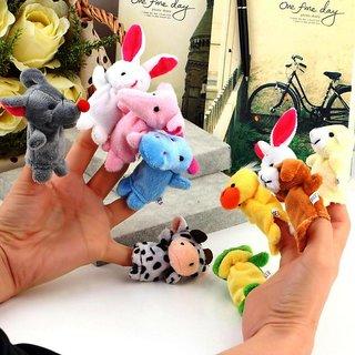 Velvet Finger Puppet Animal Baby Education Play Toy Hand Puppets 10 pcs