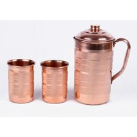 INDIAN COPPER WATER 2 GLASSES & JUG HEALTH MINERALS WATER HEALTH NERVOUS SYSTEM