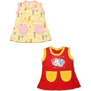 Babeezworld Cotton Sleeveless Casual A- Line Dress