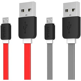 Gizga Essentials Tangle Free 1M Fast Charging cro Cable Quick Charge 2.4Amp Data Sync