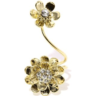 Tipsyfly Western Sun Blossom Ring For Women