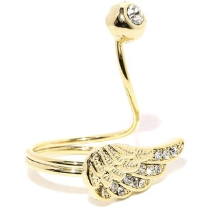 Tipsyfly Western Angel Wing Ring For Women