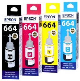 Epson Ink Bottles- pack of 4