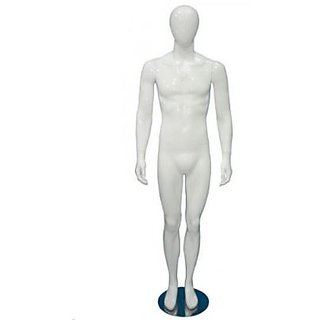Adam's Mannequins Male Abstract White Gloss MA06