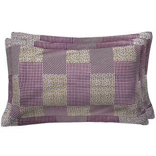 Spangle Printed Multicolor Cotton Pillow cover (Set of 2)