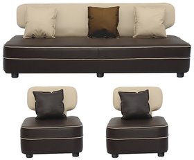 Gioteak Butterfly 5 seater sofa set in cream brown color with 5 attractive cushions