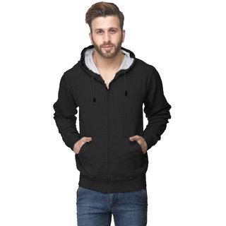 Van Galis Fashion Wear Regular Fit Black Sweatshirts For Mens