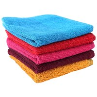 Home Berry 450 GSM Multicolour Face Towels (26cmX26cm)(Pack of 5)
