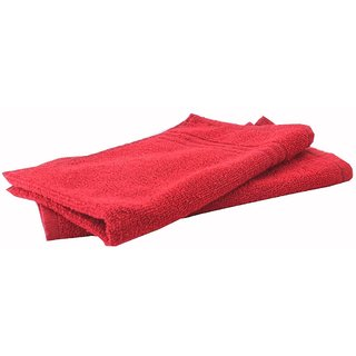 Home Berry 450 GSM Red Hand Towels (32cmX46cm)(Pack of 2)