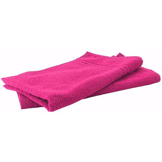 Home Berry 450 GSM Pink Hand Towel (32cmX46cm)(Pack of 2)