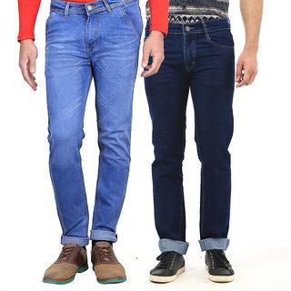 Hunt's Fashion Wear Denim Blue Jeans For Men Pack Of -2