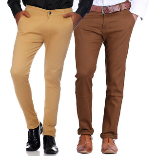 Van Galis Fashion Wear Combo of Cotton Trouser For Mens pack of 2