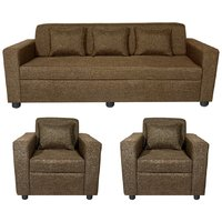 Gioteak Hemlet 5 seater sofa set in brown color with 5 attractive cushions