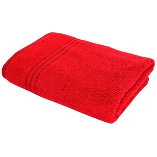 home berry 450 gsm red bath towel 70cmx140cm pack of 1 - Red And Black Print Bath Towels