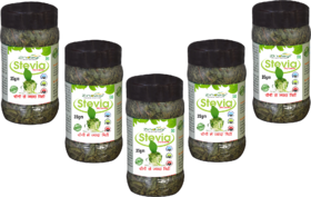 Zindagi Stevia Dry Leaves-100 Natural Sweetener-Sugarfree (Pack Of 5)