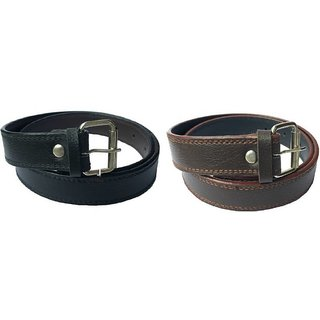 MAYANK ENTERPRISES Girls Casual, Party, Evening, Formal Black, Brown Artificial Leather, Fabric Belt