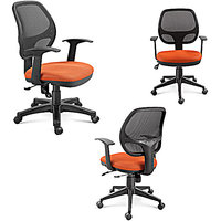 AE Designs - Combo Offer set of 3 - Medium Back Office Chair with PP Arms and PP Base