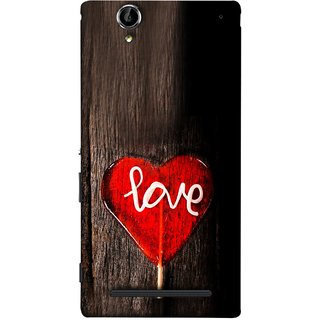 739f2a469 FUSON Designer Back Case Cover for Sony Xperia T2 Ultra :: Sony Xperia T2  Ultra Dual SIM D5322 :: Sony Xperia T2 Ultra XM50h (Big Tree Dark Red Candy  Heart ...