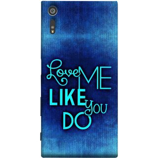 FUSON Designer Back Case Cover for Sony Xperia XR (Baby Couples Nice Quotes Happy Lovely Hard Kisses )
