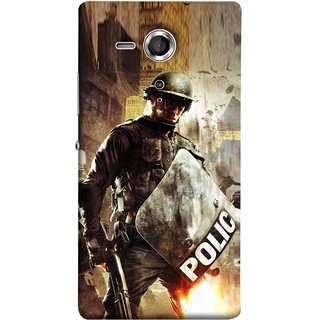 FUSON Designer Back Case Cover for Sony Xperia SP :: Sony Xperia SP HSPA C5302 :: Sony Xperia SP LTE C5303 :: Sony Xperia SP LTE C5306 (Photograph Movie Scene Anti Terror Sqad Attacks )
