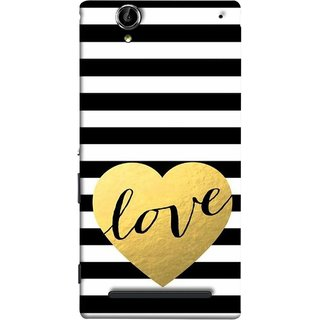 FUSON Designer Back Case Cover for Sony Xperia T2 Ultra :: Sony Xperia T2 Ultra Dual SIM D5322 :: Sony Xperia T2 Ultra XM50h (Hearts Lovely Girls True Love Dark Font)