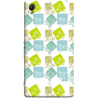 FUSON Designer Back Case Cover for Sony Xperia XA :: Sony Xperia XA Dual (Pixel Mosaic Background Squares Tree Plants Garden )