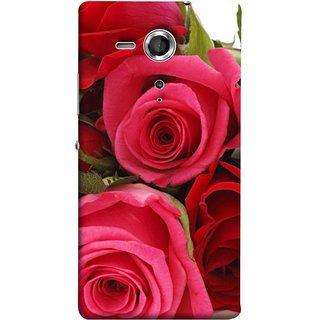 FUSON Designer Back Case Cover for Sony Xperia SP :: Sony Xperia SP HSPA C5302 :: Sony Xperia SP LTE C5303 :: Sony Xperia SP LTE C5306 (Close Up Red Roses Chocolate Hearts For Valentines Day)