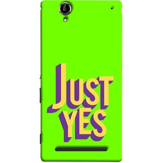 FUSON Designer Back Case Cover for Sony Xperia T2 Ultra :: Sony Xperia T2 Ultra Dual SIM D5322 :: Sony Xperia T2 Ultra XM50h (Just Green Say Always To Problems Solve Resolve)