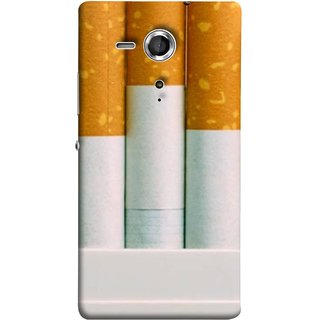 FUSON Designer Back Case Cover for Sony Xperia SP :: Sony Xperia SP HSPA C5302 :: Sony Xperia SP LTE C5303 :: Sony Xperia SP LTE C5306 (Pack Of Cigarettes With Cigarettes Sticking Out )