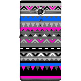 FUSON Designer Back Case Cover for Sony Xperia SP :: Sony Xperia SP HSPA C5302 :: Sony Xperia SP LTE C5303 :: Sony Xperia SP LTE C5306 (Tribal Patterns Colourful Eye Catching Verity Different )