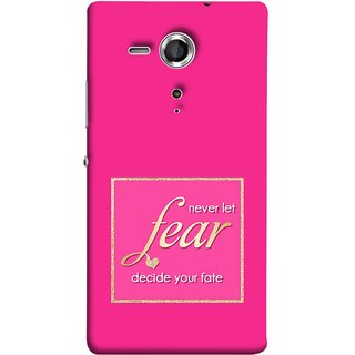 FUSON Designer Back Case Cover for Sony Xperia SP :: Sony Xperia SP HSPA C5302 :: Sony Xperia SP LTE C5303 :: Sony Xperia SP LTE C5306 (Aaron Bruno Love Quotes And Inspiration Motivational)