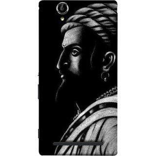 FUSON Designer Back Case Cover for Sony Xperia T2 Ultra :: Sony Xperia T2 Ultra Dual SIM D5322 :: Sony Xperia T2 Ultra XM50h (Chatrapati Shivaji Maharaj Sideview Jiretop With Beard)