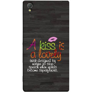 FUSON Designer Back Case Cover for Sony Xperia T3 (Words Superfluous To Stop Speech Become Stop)