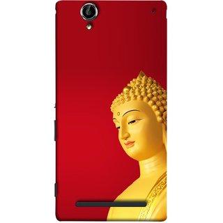 FUSON Designer Back Case Cover for Sony Xperia T2 Ultra :: Sony Xperia T2 Ultra Dual SIM D5322 :: Sony Xperia T2 Ultra XM50h (Gautam Buddha Statue Scenary Lord Siddharth)